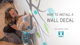 how to install a wall decal step by step instructions with a 8 ft tree decal