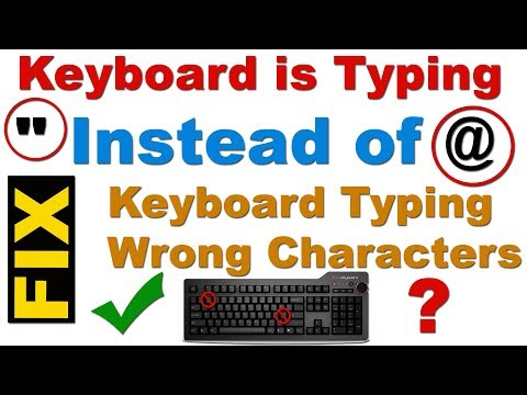 "FIX: My Keyboard is Typing "" instead of @ in Windows 7, 8 & 10 (my keyboard is not typing correctly)"