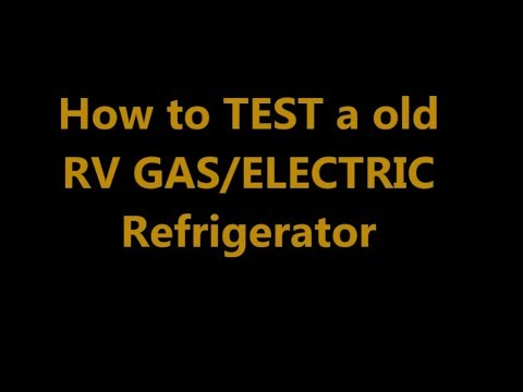 RV Gas Electric Refrigerator, Best Tools Listed Below