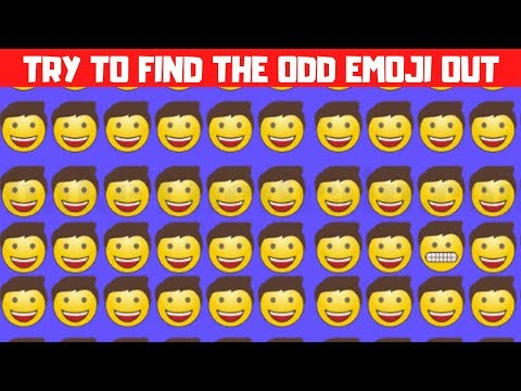 Try to Find the Odd Emoji Out | Picture #Puzzles