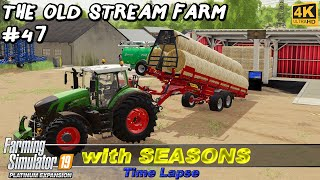 Baling & collecting straw, plowing, spreading lime & manure | Old Stream Farm #47 | FS19 TimeLapse