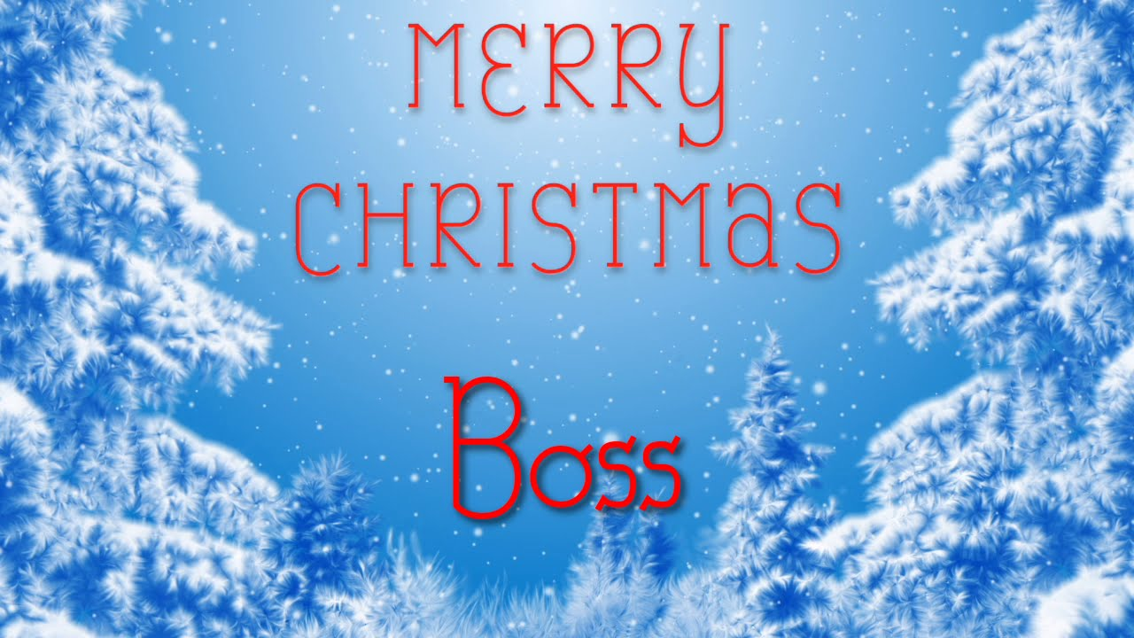 Merry Christmas Boss.Merry Christmas Boss A Special Message Just For You