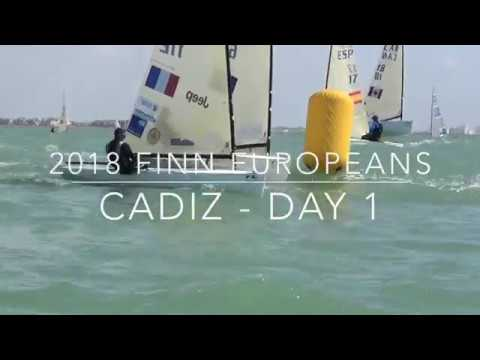 Footage mix of Day 1 of 2018 Finn Europeans in Cadiz