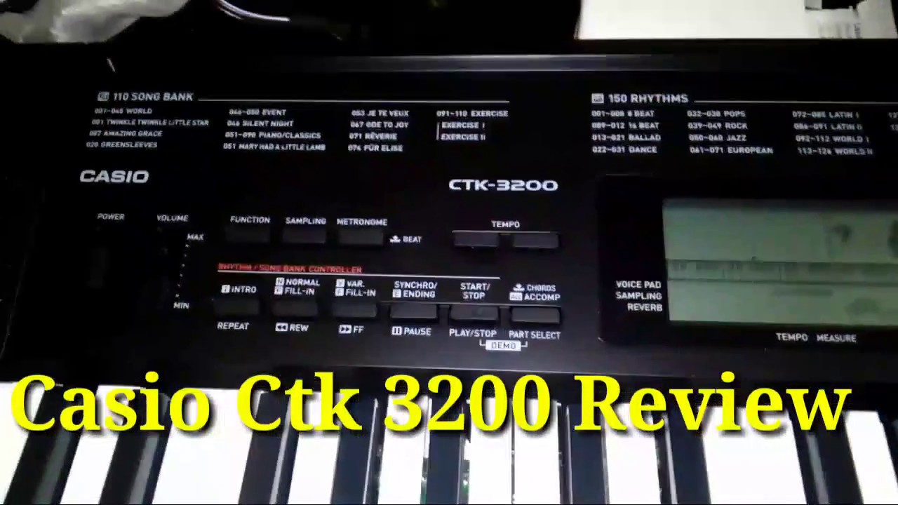 Casio CTK-3000 keyboard demo (general sounds demo) - YouTube