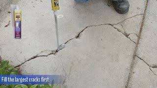 How to Repair a Cracked Sidewalk