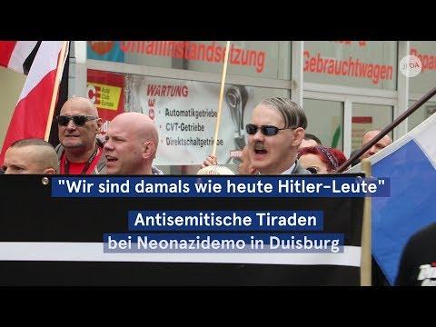 """""""Wir sind damals wie heute Hitler-Leute"""" – Antisemitische Tiraden bei Neonazidemo in Duisburg"""
