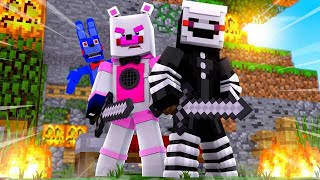 EPIC Bed Wars Victory With BonBon and Puppet! Minecraft FNAF Roleplay