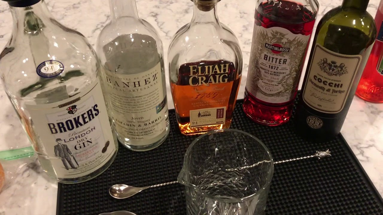 Negroni family up close: Quarantine Cocktail Kitchen