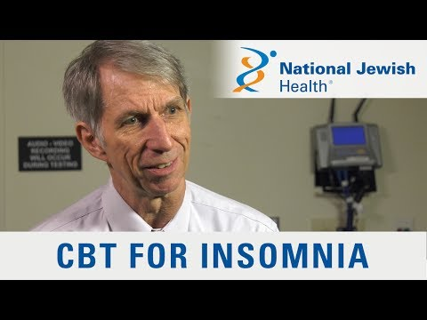 Cognitive Behavioral Therapy Helps Treat Insomnia