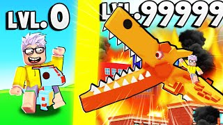 EVOLVING in THE STRONGEST DINOSAUR in Roblox - Dinosaur City