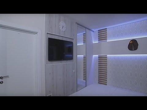 Ремонт в маленькой спальне в стиле минимализм Удачный проект Интер