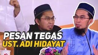 Video TEGAS! Pesan Ust. Adi Hidayat untuk Jamaahnya - Ustadz Adi Hidayat LC MA download MP3, 3GP, MP4, WEBM, AVI, FLV Juli 2018
