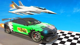 *NEW* GTA 5 SUPERCAR vs. FASTEST PLANE! (DLC)