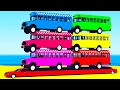 LEARN COLORS & BUS in Cars Cartoon for Children Learn Numbers w Spiderman for Kids Learning Video