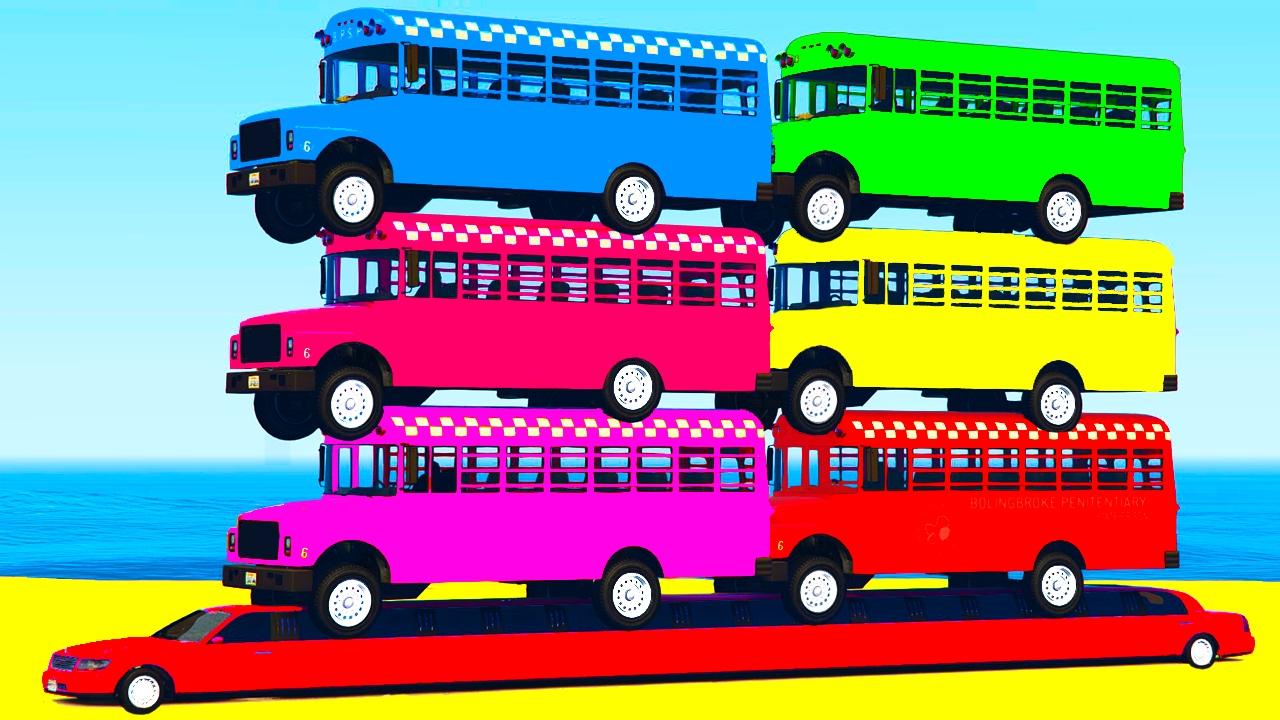 Learn Colors Bus In Cars Cartoon For Children Learn Numbers W Spiderman For Kids Learning Video