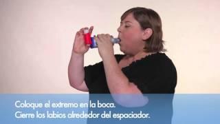 Cómo usar un inhalador de dosis medida con un espaciador o cámara de retención con válvula