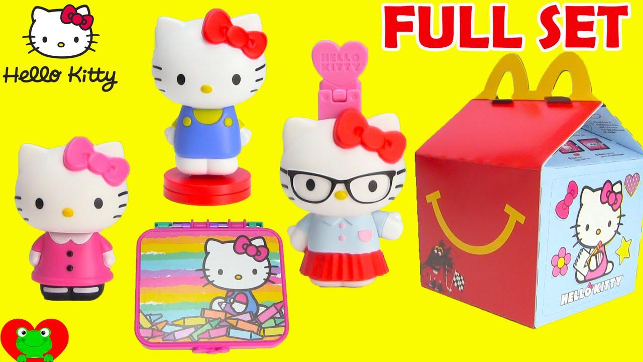 Hello Kitty Happy Meal Toys : Mcdonalds happy meal toys hello kitty youtube