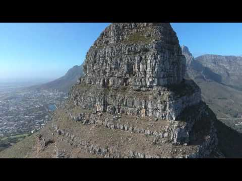 Table Mountain over Lion's Head Drone Flight Cape Town 4K