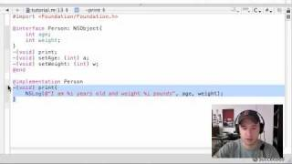 Objective C Programming Tutorial - 5 - Implementation