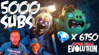 Especial 5000 subs. 6750 gemas en Angry Birds Evolution
