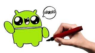 How to Paint a Kawaii Logo Android...Как Нарисовать Логотип Андройд