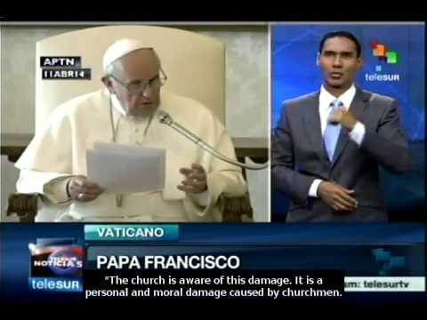Pope Francis apologises for priests' sexual abuses