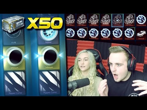 MY GIRLFRIEND'S LUCK IS INSANE! | 50 Victory Crate Opening In Rocket League