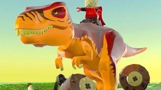 LEGO Worlds PT BR #56 - DINOSSAUROS! T-REX E VELOCIRAPTOR