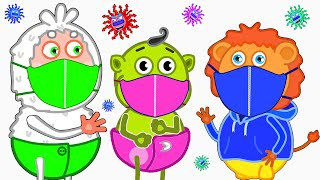 Yes Yes Stay Healthy. New Video about Viruses | Lion Family | Cartoon for Kids