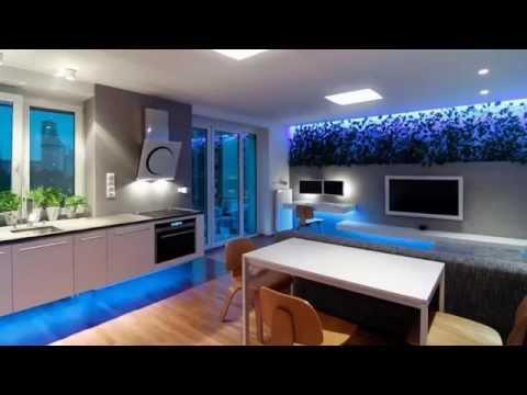 Дизайн двухкомнатной квартиры со светодиодным освещением
