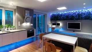 Дизайн двухкомнатной квартиры со светодиодным освещением(Пример использования RGB светодиодной ленты при дизайне интерьеров., 2015-06-30T16:17:45.000Z)