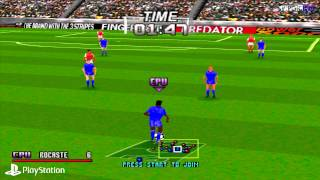 [PS1] Adidas Power Soccer Gameplay with ePSXe  (Full HD)[1080p]
