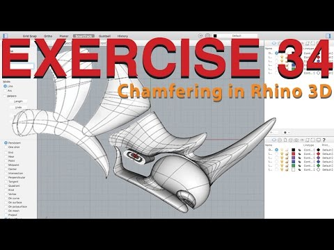 How to Chamfer in Rhino 3D