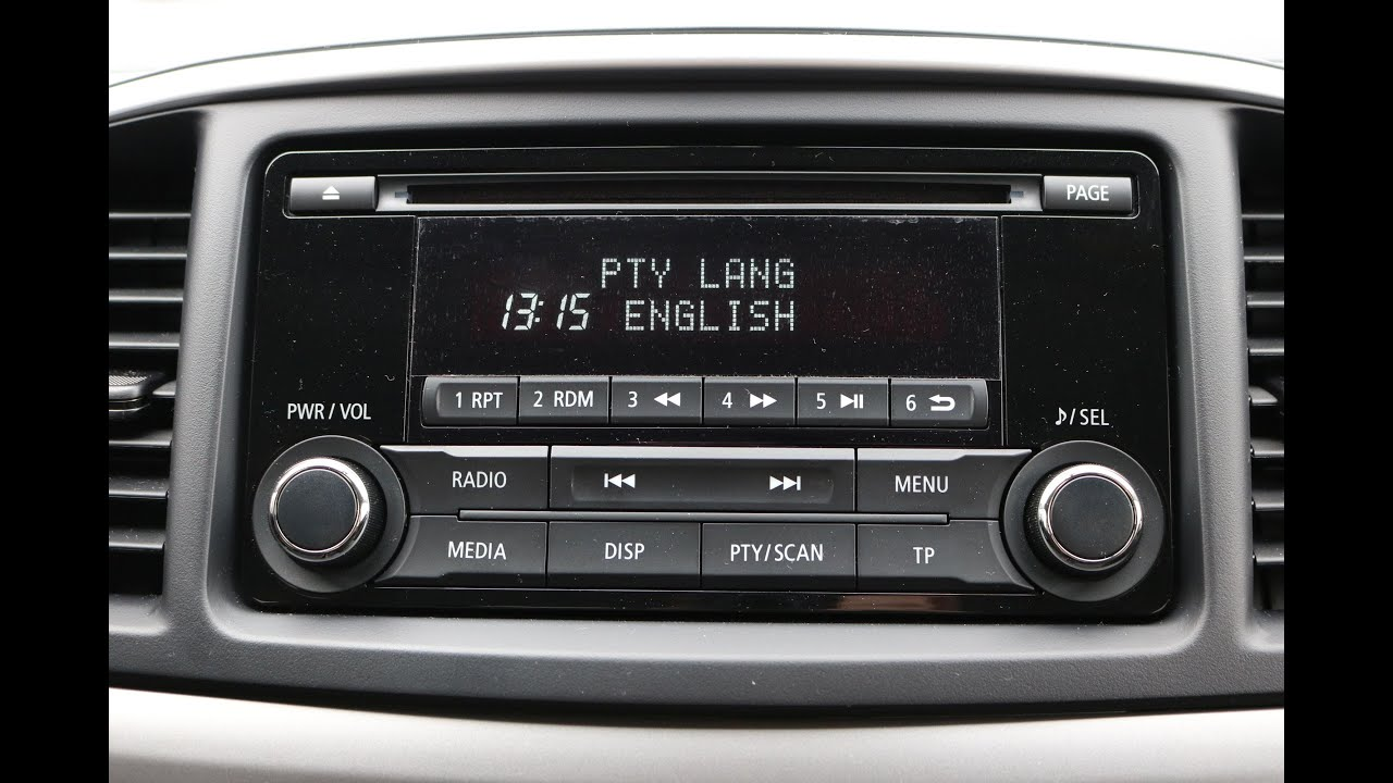 mitsubishi lancer radio cd language setting youtube. Black Bedroom Furniture Sets. Home Design Ideas