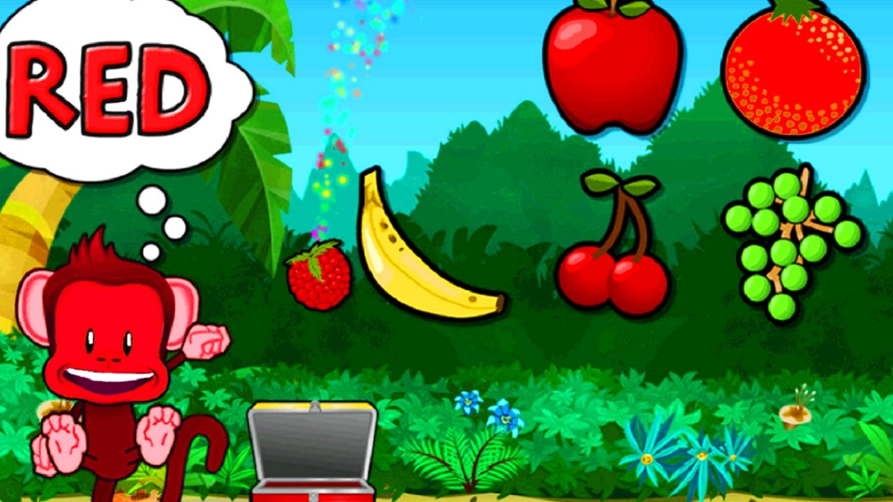 Kids and Baby learn Fruits Numbers Colors & Shapes with Monkey ...