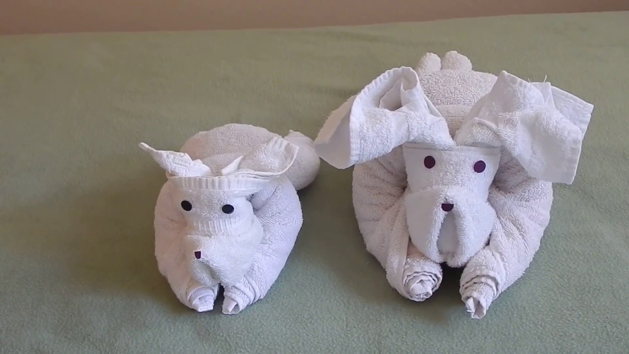 Origami Falten Anleitung How To Fold A Dog Using Towels. - Youtube