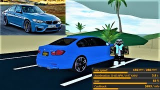 Review of the NEW bmw M3 in Ultimate Driving Roblox!