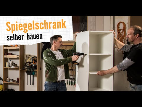 spiegelschrank hornbach m bel selber bauen youtube. Black Bedroom Furniture Sets. Home Design Ideas