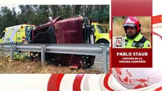 TELEANGOL NOTICIAS: NUEVO ACCIDENTE DE TRÁNSITO EN RUTA ANGOL - LOS SAUCES