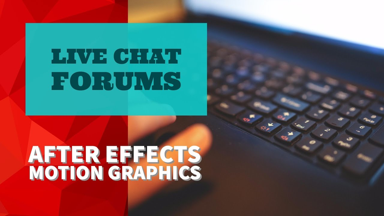 03/51 | Live Chat forums - Adobe After Effects