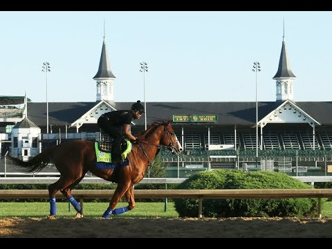 Triple Crown hopeful Justify 'very happy' training for Belmont 2018