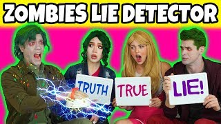 ZOMBIES LIE DETECTOR TEST (With Bonzo, Zed, Eliza & Addison Characters From Disney Zombies Movie)