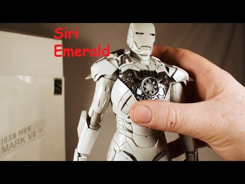 Hot Toys Iron Man Mk 7 (Mark VII) Sub Zero White Chocoolate MMS 329 Robert Downey Jr Review Unboxing
