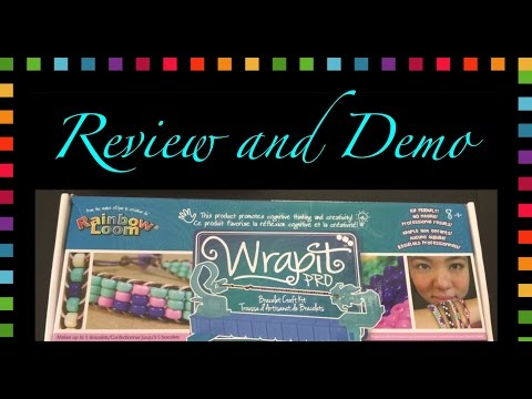Rainbow Loom Band Wrap It Pro Review and Demo/How To Tutorial
