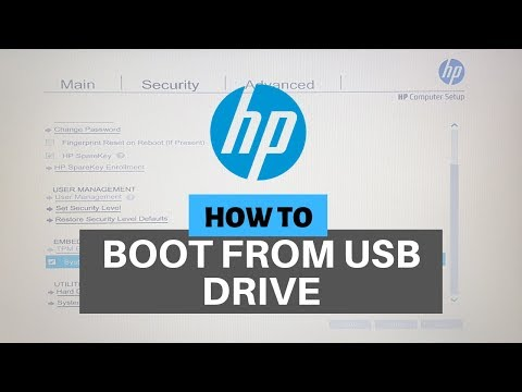 HP Laptop BIOS Settings To Boot Windows 10 From USB Flash Drive