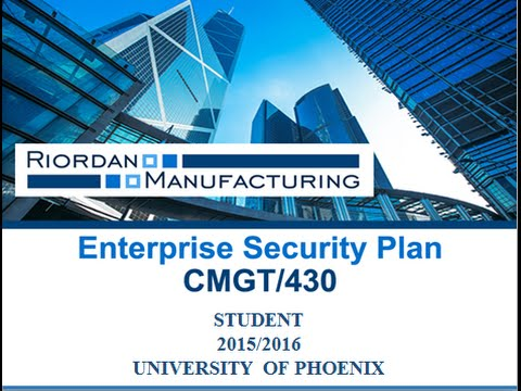 enterprise risk management plan for riordan manufacturing Risk and risk management essay enterprise risk management university of phoenix electronics manufacturing risk management plan for lectocomp electronics.