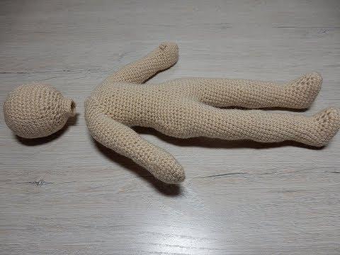 1 КУКЛА крючком  вязаные игрушки амигуруми  мастер класс для начинающих МИР ВЫШИВКИ интернет магазин