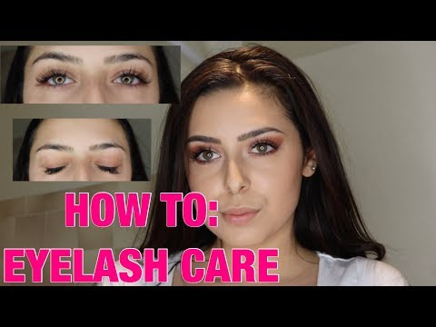 HOW TO: CLEAN EYELASH EXTENSIONS -CARE ROUTINE-