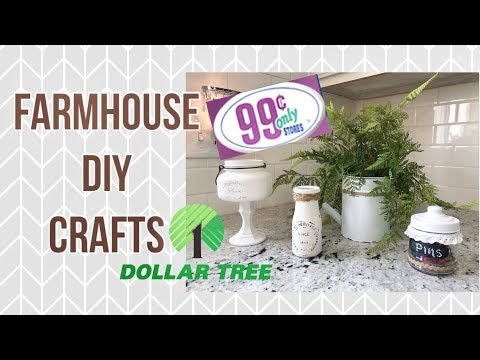 DOLLAR TREE /FARMHOUSE DECOR IDEAS // SHOPPING HAUL