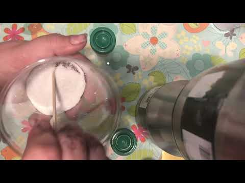 Mixing UV Solar changing pigments into glitter DIY how to